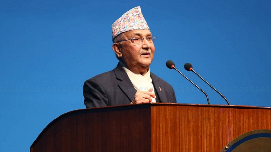 PM Oli urges opposition for solidarity in development