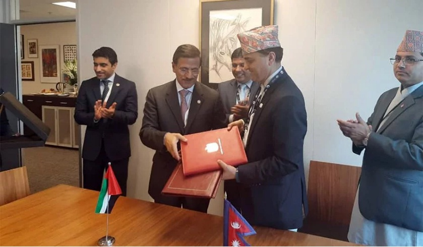 Nepal and UAE sign Air Service Agreement