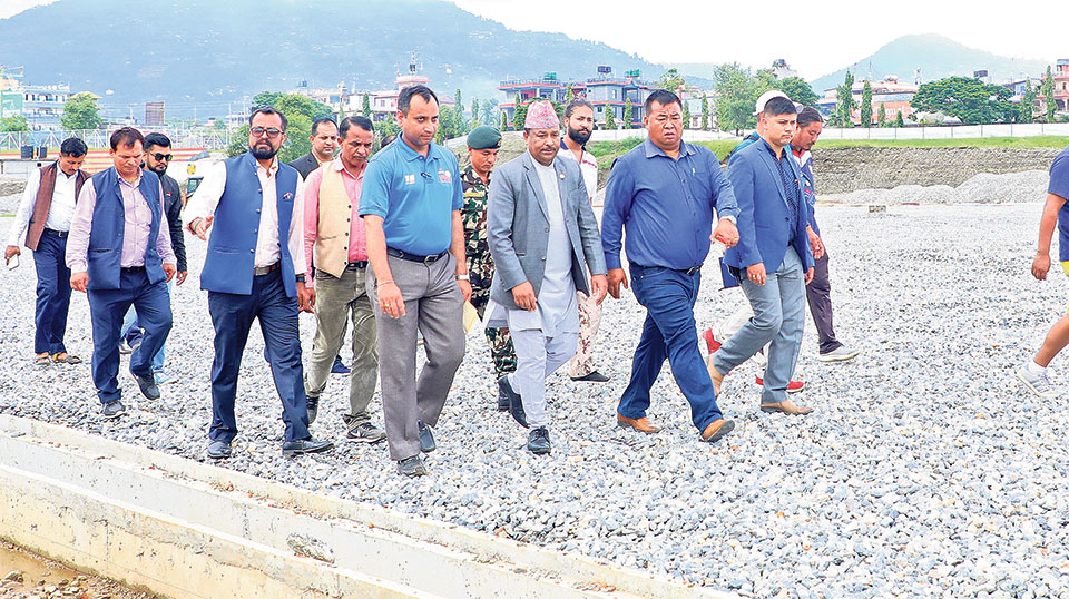 Sports Minister inspects under-construction infrastructures for SAG