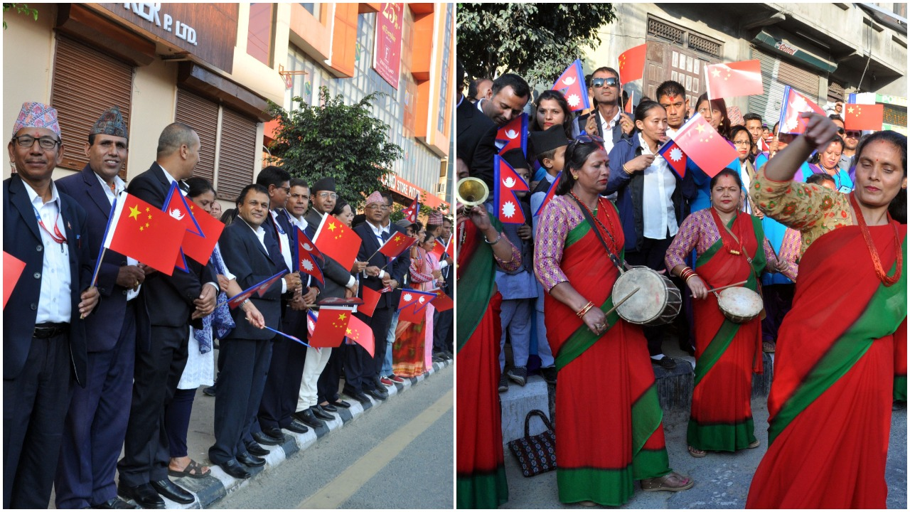 President Xi accorded a warm welcome Airport to Soaltee Hotel