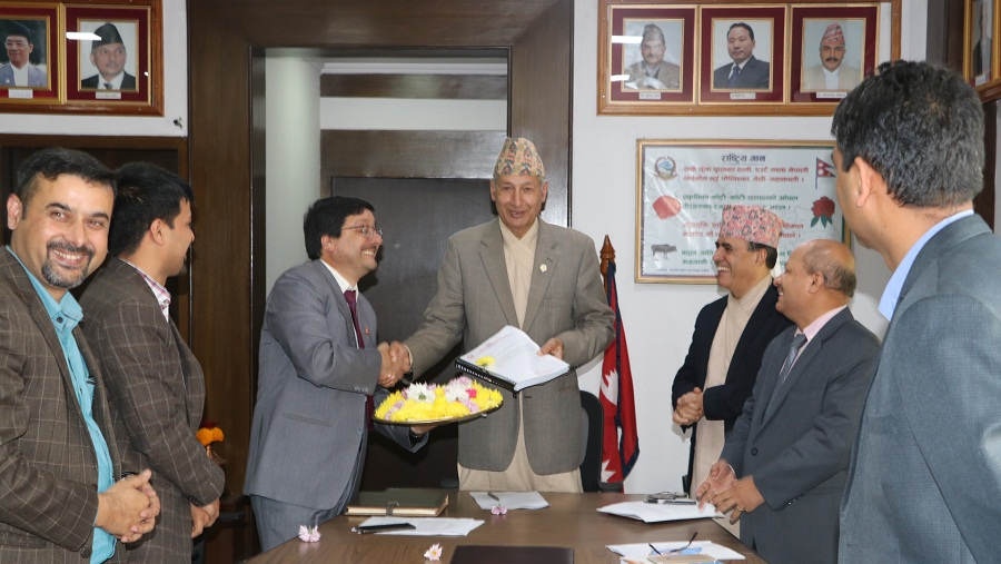 Khatiwada received integrated annual report of OAG