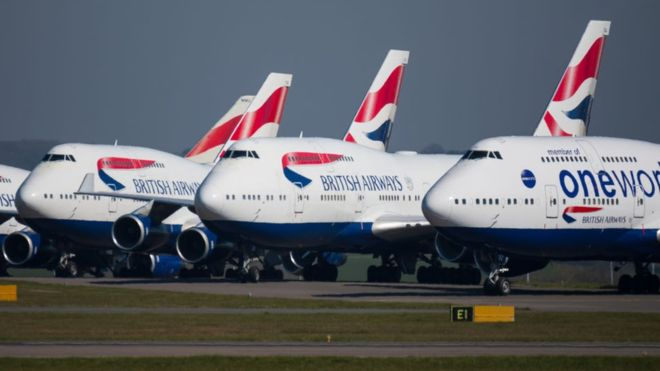 British Airways to cut 12,000 jobs amid grounded air travel
